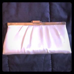 Jessica McClintock IvorySatin clutch purse